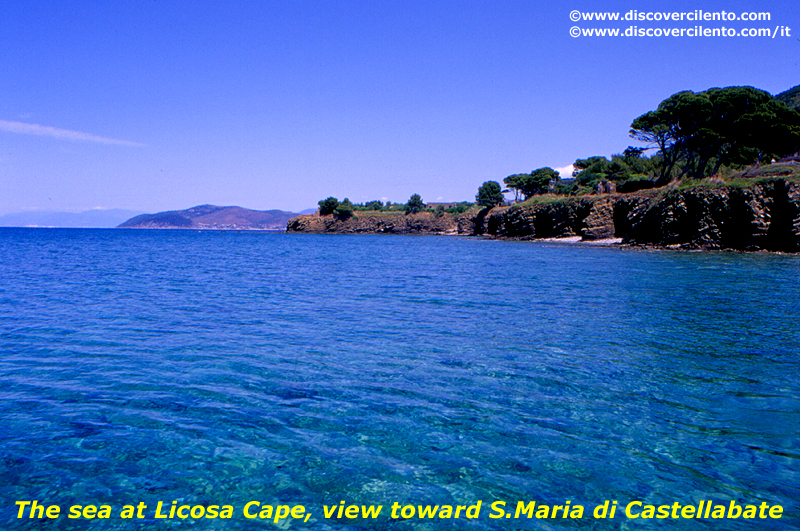 Licosa Cape toward S. Maria di Castellabate, in Cilento National Park
